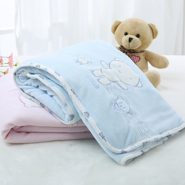 Baby clothes blanket newborn thick warm baby sleeping blanket 0-24 months baby infant quilt winter cotton velour baby clothes