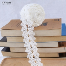 african lace fabric ribbon wedding decoration trim DIY 10yard Exquisite Water-soluble Embroidery Milk Silk Lace New White laces