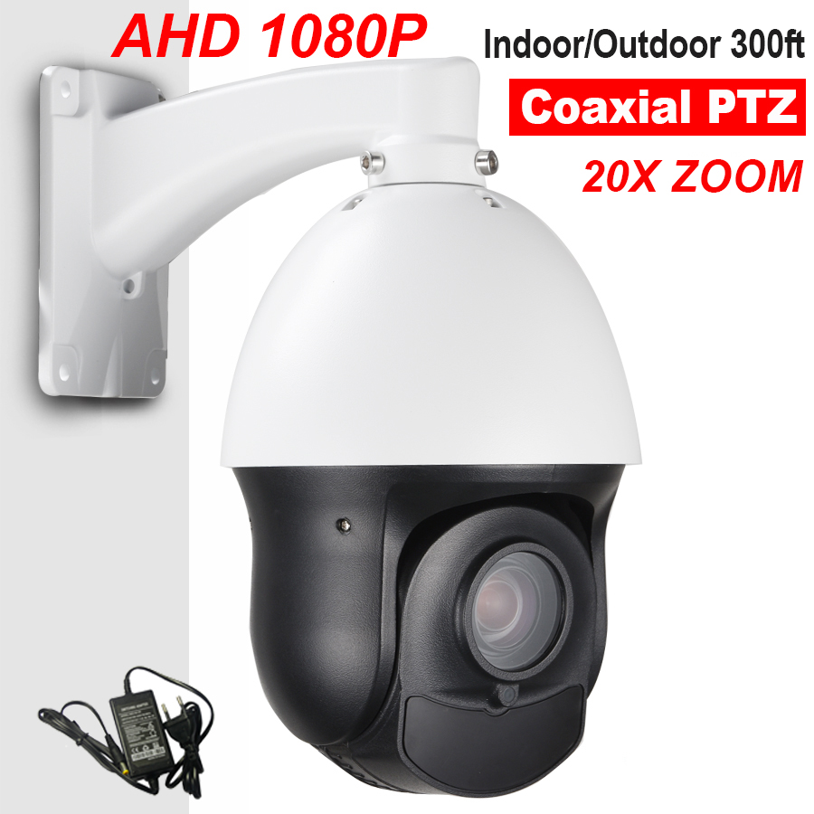 Outdoor Security CCTV 4 MINI AHD 1080P High Speed PTZ Camera 20X Optical Zoom Auto Focus Day Night Vision 100M Coax PTZ RS485 4 in 1 ir high speed dome camera ahd tvi cvi cvbs 1080p output ir night vision 150m ptz dome camera with wiper