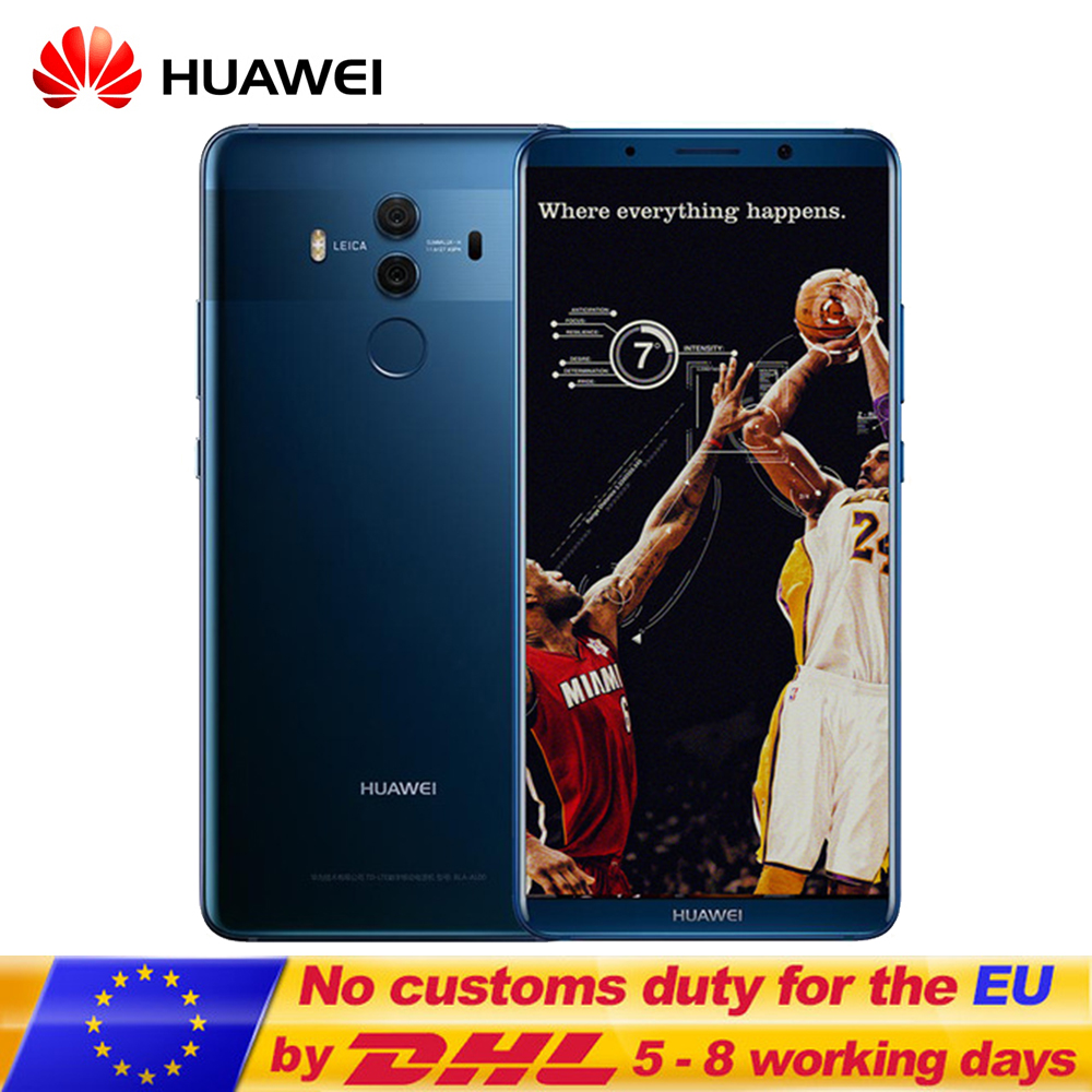 "HuaWei Mate 10 Pro 4G LTE Mobile Phone Kirin 970 Android 8.0 6.0 ""2160*1080 20.0MP"
