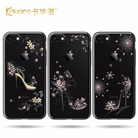 2017 Newest High Quality Electroplate Black Hard PC Phone Case For Apple IPhone 7 7 Plus