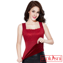 Winter soft lace warm underwear, self-cultivation plus thickening, body shaping camisoles Tanks
