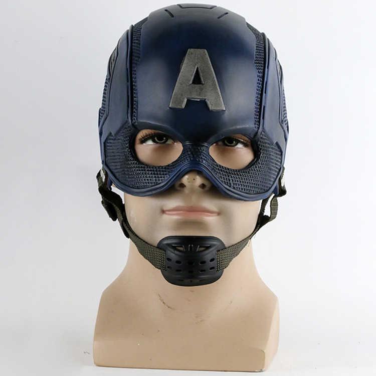 2016 Superhero Kapten Helm Amerika Helm Masker Perang Sipil Cosplay Steven Rogers Kostum Halloween untuk Koleksi