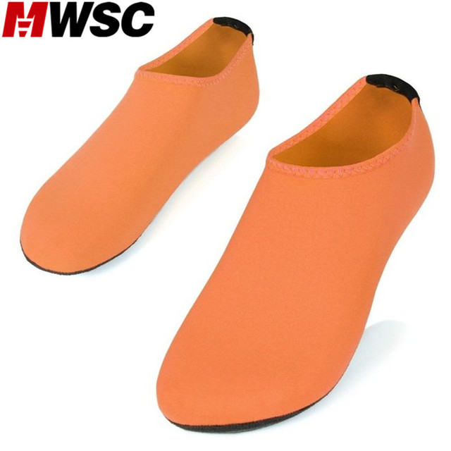 MWSC Large Size 2017 Summer New Women's Soft Aqua Slippers Female Light Beach Water Shoes Sandalias