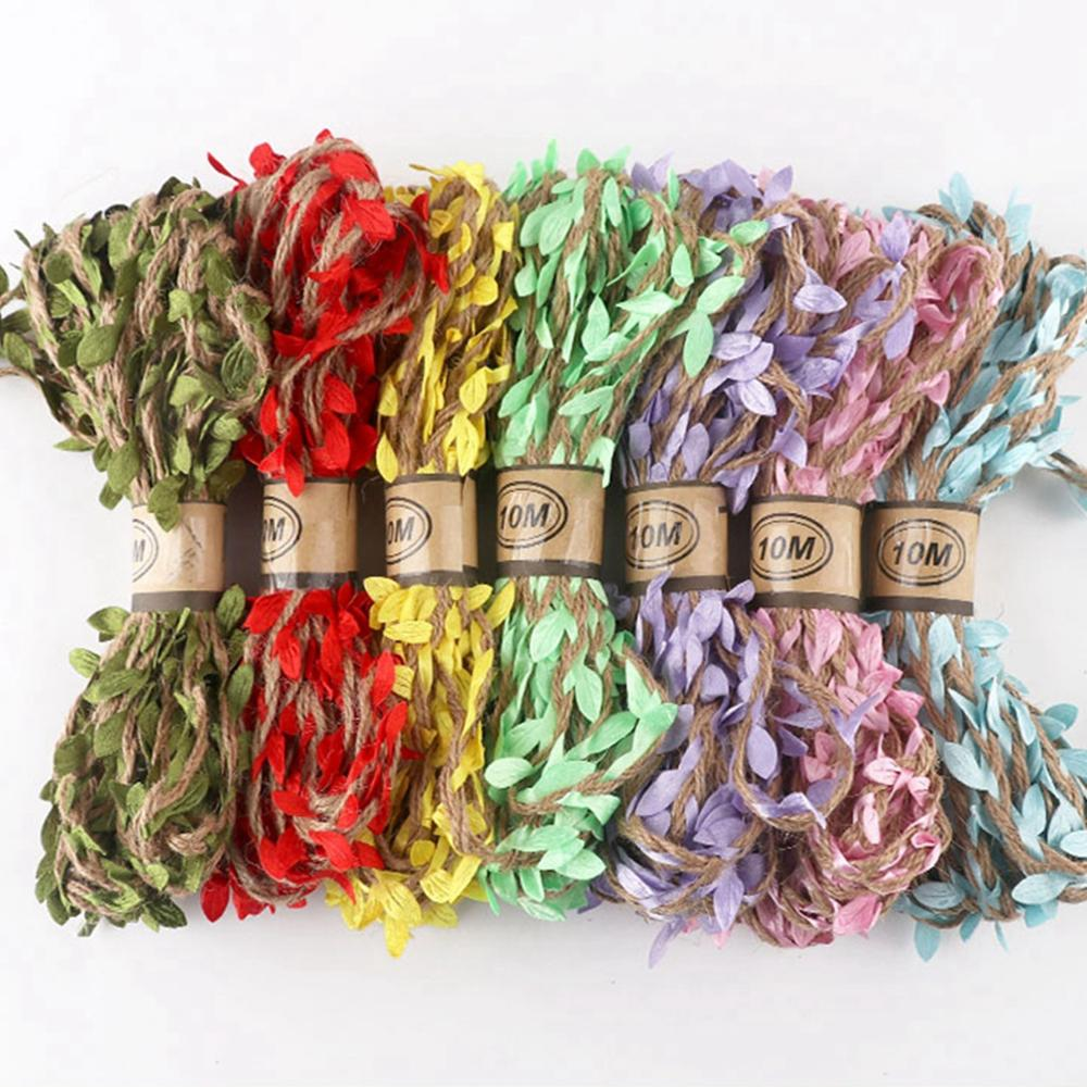 Yard 5M;10M naturalSimulation Green Leaves Weaving  Wedding Decor Vintage Wedding Accessories rope