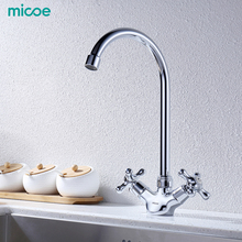 Micoe Kitchen Faucet Kitchen Taps Sink Mixer Taps Deck Mounted Chrome Polished Basin Faucet Hot&Cold Water Swivel Mixer H-HC117 gappo kitchen faucet water mixer taps brass kitchen mixer antique faucet kitchen sink mixer cold hot water mixer 1set g4063 4