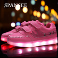 Children LED Shoes with Light Up Sneakers Boys Girls LED Slippers Kids Casual Shoes Glowing Sneakers Trainers Luminous Shoes
