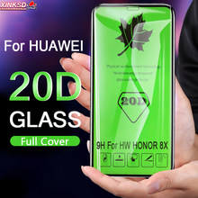 20D Full Cover 9H Tempered Glass For Huawei P20 Mate 20 Lite P30 Pro Screen Protector Honor 8X Y5 Y7 2018 Protective Glass Film(China)