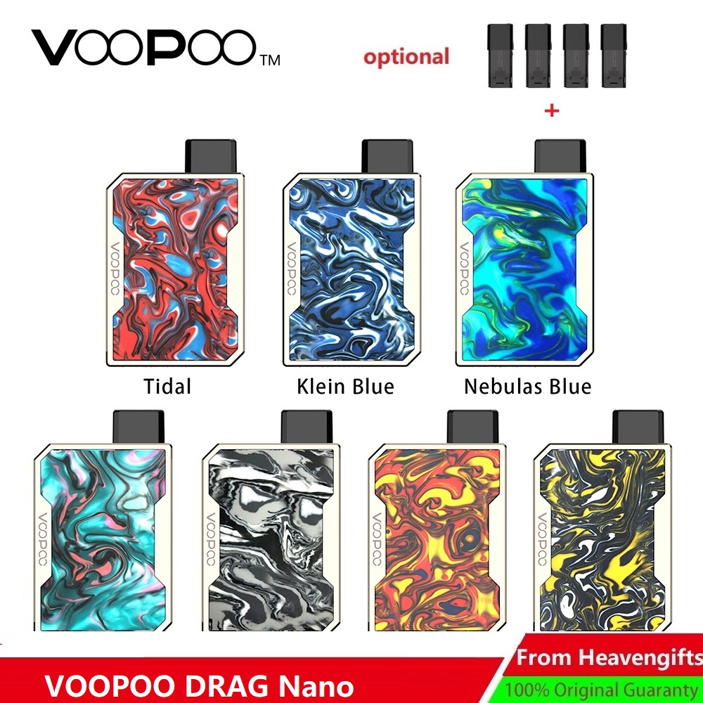 Pod System VOOPOO DRAG Nano Pod Vape Kit w/ 750mAh battery & 1ml Pod & GENE chip Voopoo Resin Kit vs Lost Vape Orion/ pal 2 pro