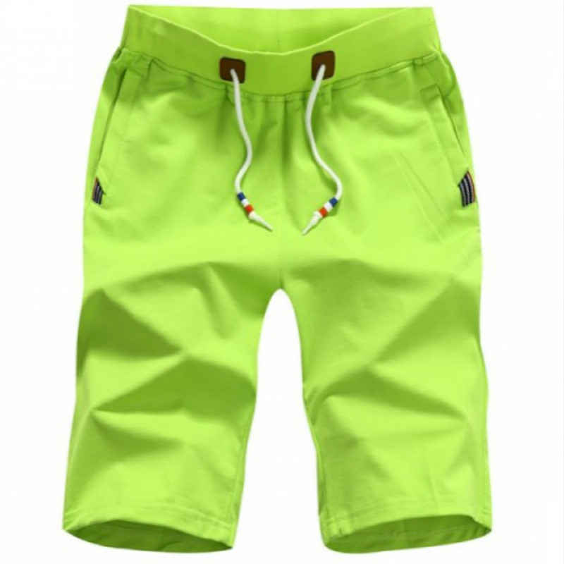 2019 Men's Shorts 5XL Summer Men's Beach Shorts Solid Color Casual Men's Shorts Homme Brand Clothing
