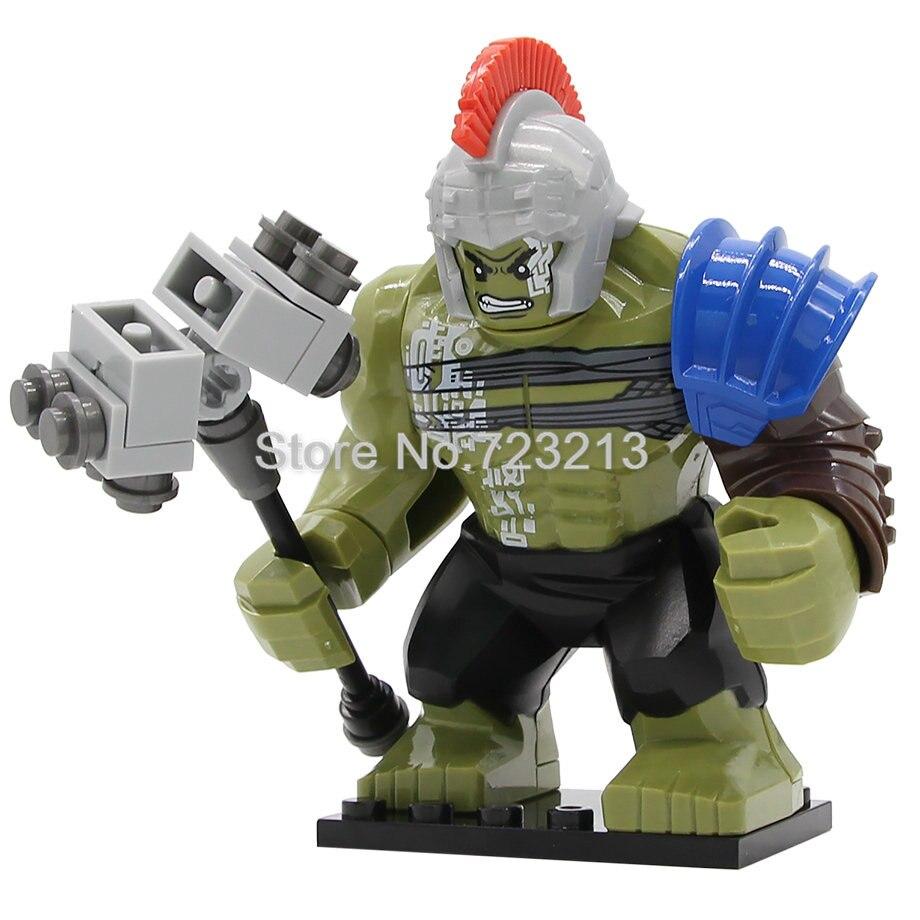Marvel Super Hero Avengers Rome Hulk Figure GREEN HULK 7cm High The Amazing Action Building Block Sets Model Bricks