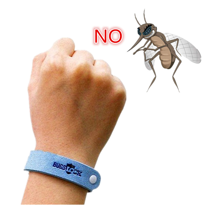 Anti Mosquito Bug Repellent Wrist Band Bracelet Insect Nets Bug Lock Camping safer anti mosquito bracelet outdoor(China)
