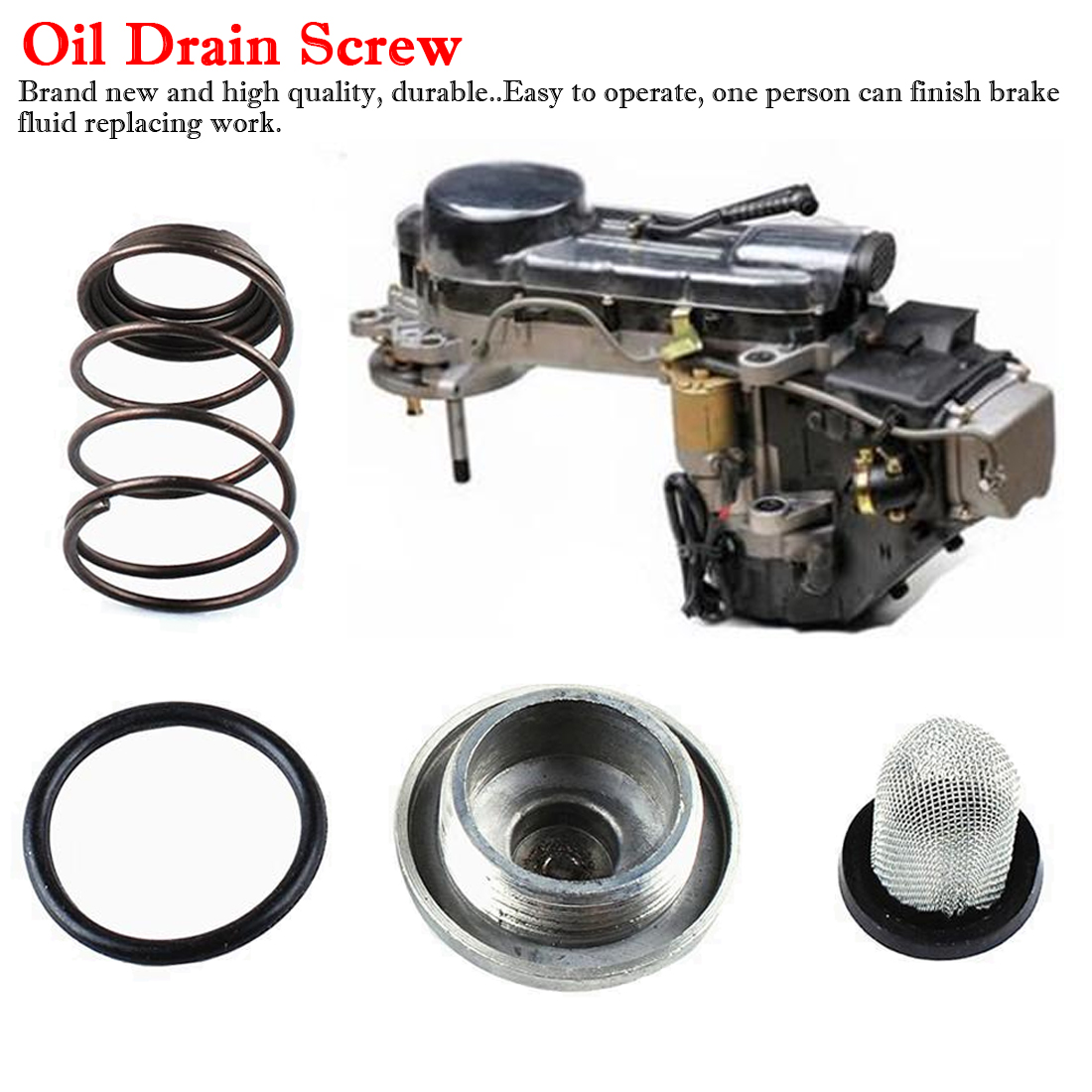 <font><b>GY6</b></font> <font><b>Engine</b></font> Kits <font><b>Parts</b></font> Oil Drain Screw Scooter 50 80 <font><b>50cc</b></font> to 150cc 125/150 Auto Car Styling Car Accessories Camping image