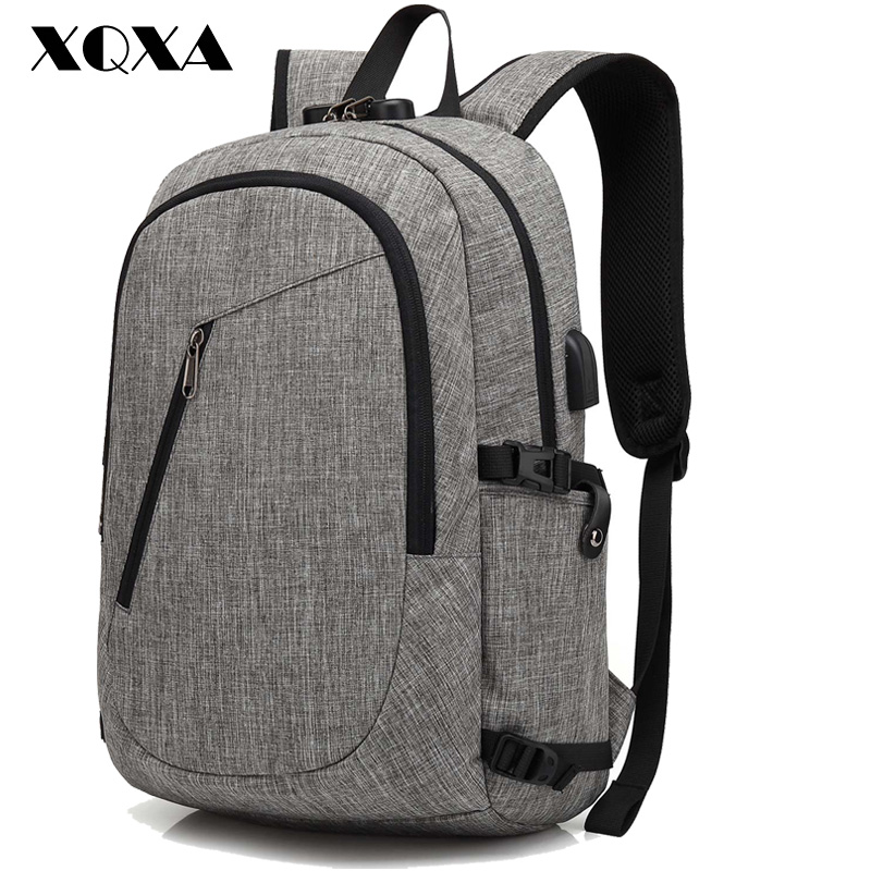 XQXA Anti theift Satchel Rucksack Backpacks School Bags for Boys and Girls Male Mochila Escolar Solid Backpack Schoolbag tangimp 3 size camouflage kid cool backpack school bags unisex travel mochila escolar backpacks bags for boys girls teenager