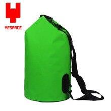 new waterproof 20L swimming bag canoe kayak rafting hiking camping travel bag green dry bag shoulder bag and hand bag KQ0009