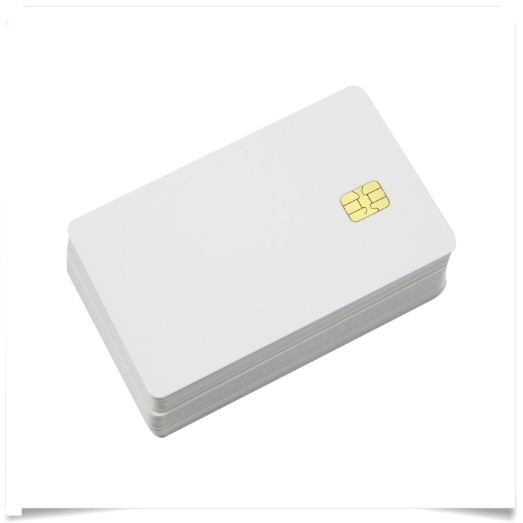 200pcs ISO Blank White pvc SLE4442 chip plastic contact smart card iso7816 atmel 24c16 blank contact ic card contact chip card 16k plastic card