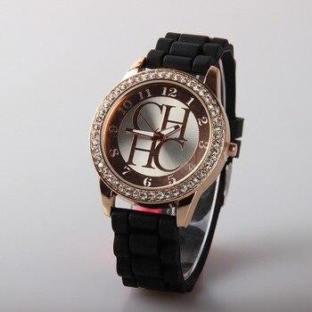Reloj Mujer New Brand Women 2018 Luxury Rhinestone Quartz Watch Dress Watches Womens Silicone Clock Hot Relogio Feminino