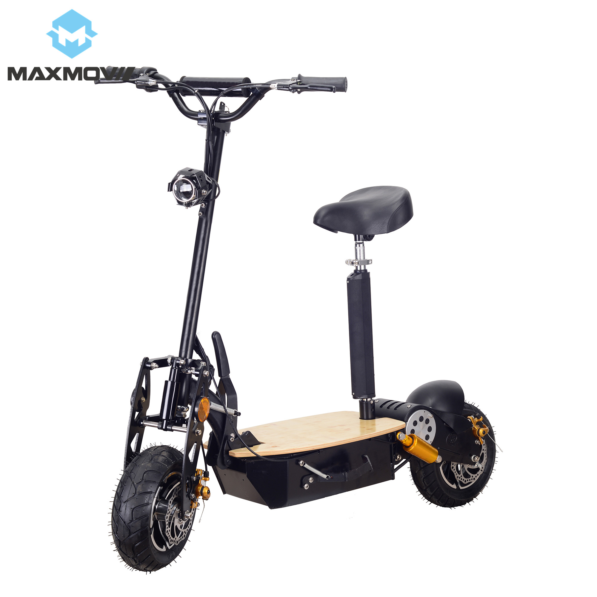 <font><b>2000W</b></font> <font><b>60V</b></font> Adult Foldable Two Wheel Off-road <font><b>Electric</b></font> <font><b>Scooter</b></font> with Front and Rear LED Lights image