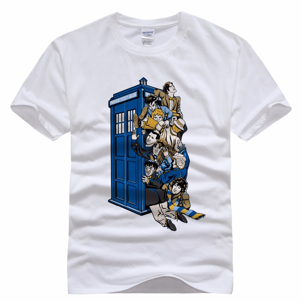 53360502188b Casual Brand T Shirt Novelty DOCTOR WHO T shirts 3D Print Painting Fashion  Slim Men Tops Tees White Grey Cotton Shirts For Men-in T-Shirts from Men's  ...