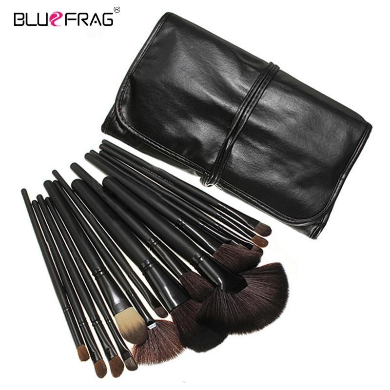 BLUEFRAG 24-stks zwarte borstels set tools professionele make-up - Make-up