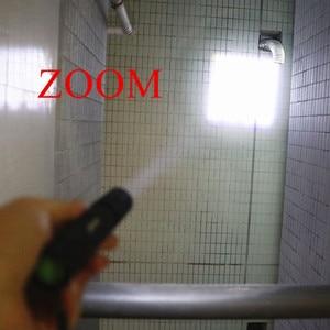 Image 5 - 3800 ルーメン XML T6 ミニポータブルズーム Led 懐中電灯ズームトーチナイトハイキング照明ランタン自転車クリップ