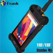D'origine Talkie walkie Runbo M1 DMR Téléphone Étanche Smartphone IP67 Quad Core Glonass A-GPS NFC 2 GB Antichoc Téléphone PTT VHF