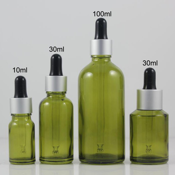 100pcs empty Olive Green 50 ml dropper bottle for essential oils , olive green glass 50ml dropper bottle wholesale