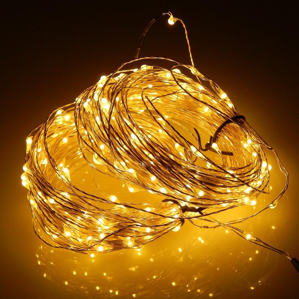 30M / 99FT 300 светодиод Cool White Light Күміс Wire - Мерекелік жарықтандыру - фото 3