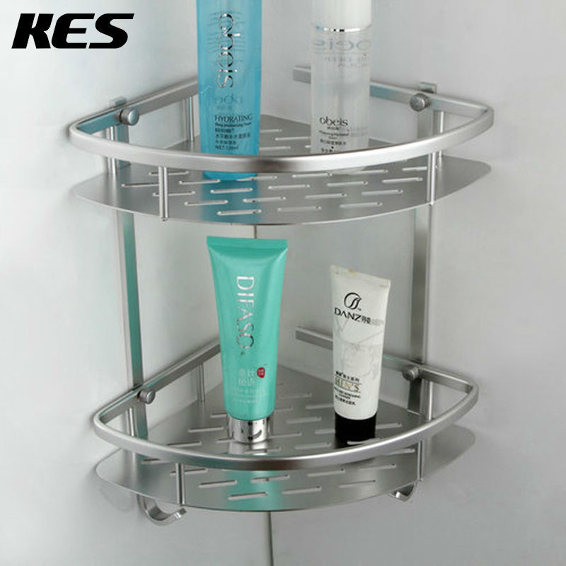 KES A4022B Tub and Shower Large Corner Basket Two Tier with Hook ...
