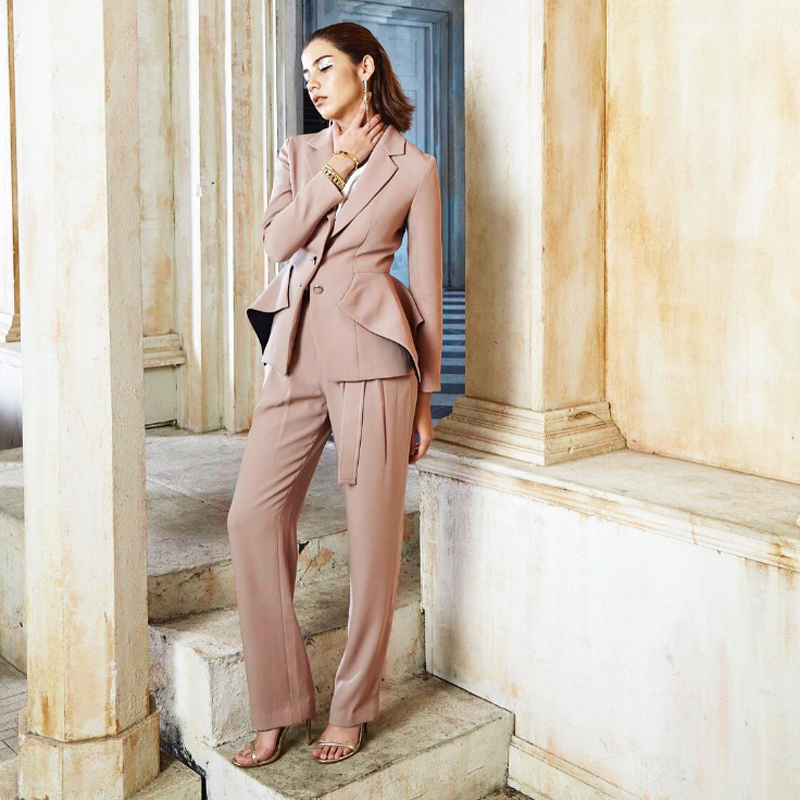 New Fashion Summer Colleague 2 Piece Set Women Jumpsuit Business Formal Celebrity Party Jumpsuits Clothing Outfit Dropshipping