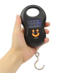 Цифровые мини-весы, электронные весы с крючком для рыбалки, кухни, багажа, путешествий, 50 кг х 10 г