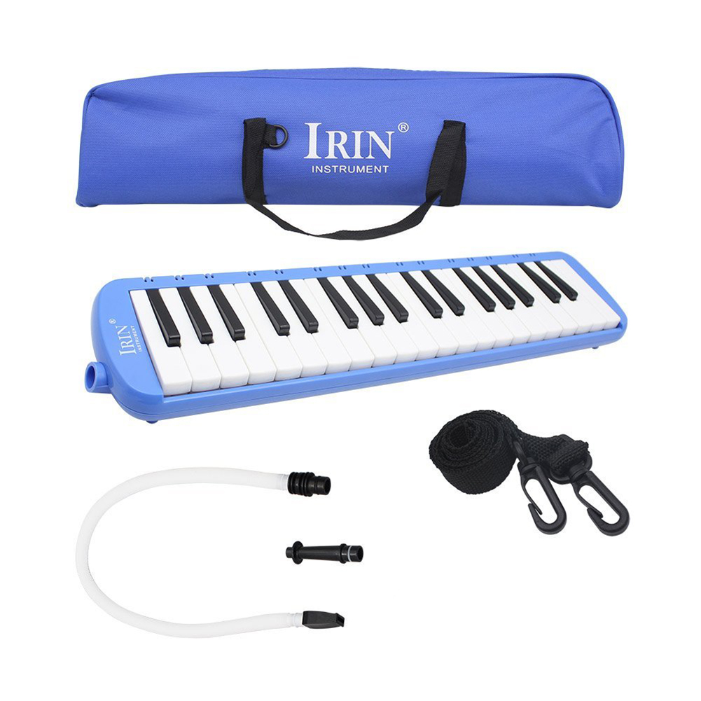 IRIN 1set 37 Piano Keys Melodica Musical Instrument with Carrying Bag for Students Beginners Kids Blue запонки sokolov 94160011 s