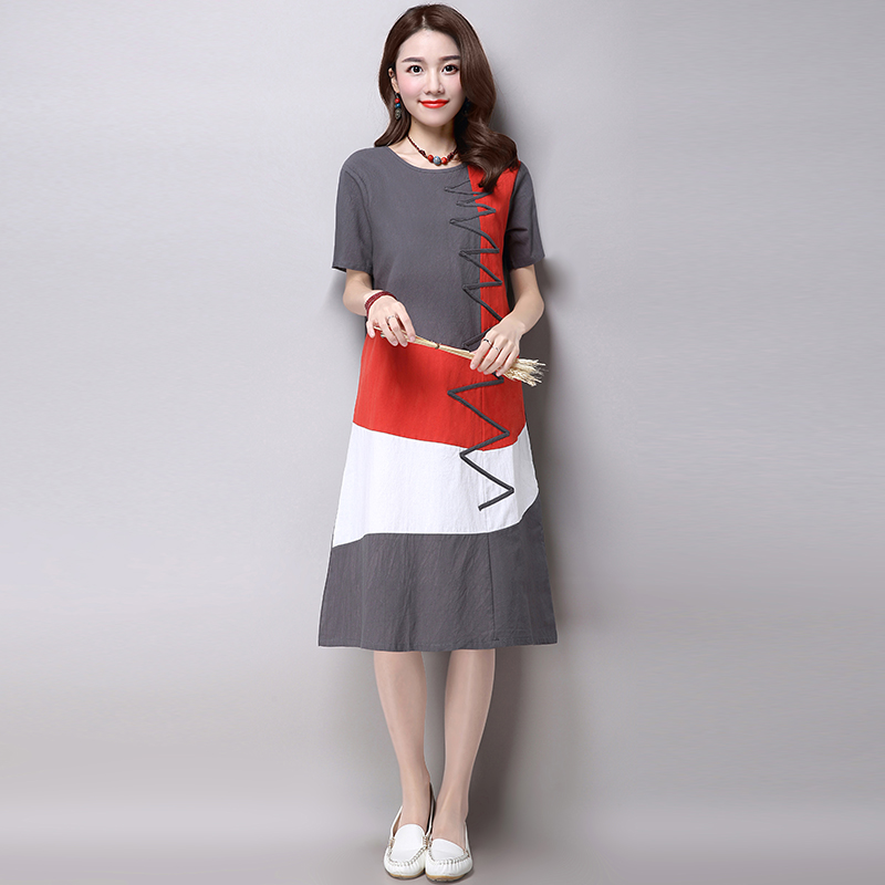 Buy Plus Size Clothing Women Loose Casual Dress New 2017 Fashion Korean Style