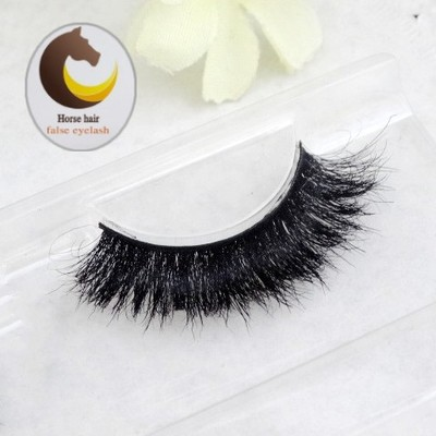 2016 New 1 pair 3D mink eyelash 100%real mink Fur Handmade Crossing lashes individual strip thick Natural lash makeup beuty tool