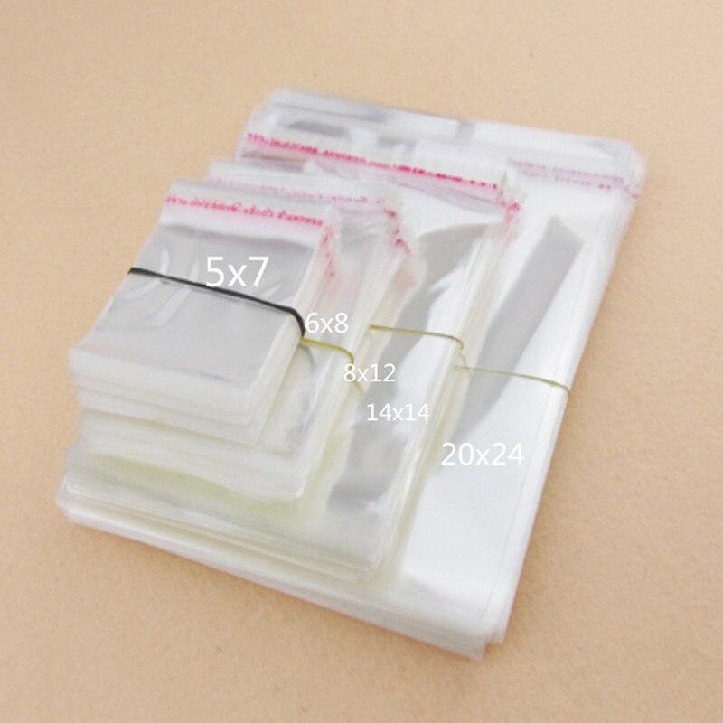 100 шт./лот 11 Размеры прозрачный упаковки печенья самоклеящиеся Пластик печенье мешок свадьба конфеты сумки БОПП/Poly Сумки