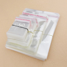 100 יח\חבילה 11 גודל שקוף אריזת עוגיות שקיות עצמי דבק פלסטיק ביסקוויט שקית ממתקי החתונה BOPP/פולי שקיות