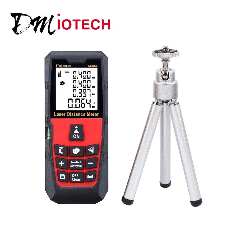 DMiotech 262ft 80m Mini Handheld Digital Laser Distance Meter Rangefinder Red with Tripod  dmiotech 262ft 80m mini handheld digital laser distance meter rangefinder red with tripod