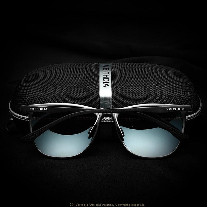 VEITHDIA Retro Aluminij Magnezij marke Muške sunčane naočale - Pribor za odjeću - Foto 4