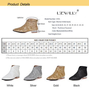 Black Glitter Boots | Lsewilly Designers Brand Women Ankle Boots Heels Female Shoes Woman Pointed Toe Glitter Boots Casual Bling Black White S755