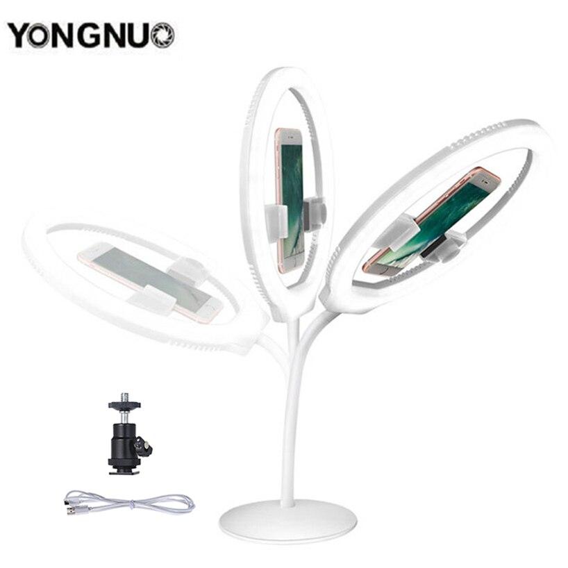 YONGNUO YN128 Ring Light 3200-5500K White Selfie Light Phone/Camera/Studio/Phone/Video LED Lights for Iphone/Samsung/Xiaomi кольцо для селфи selfie ring light на батарейке белое