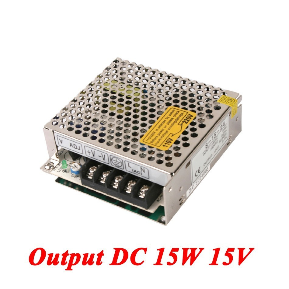 S-15-15 Mini ac-dc power supply 15W 15V 1A Single Output for Led Driver,smps power supply 110V/220V to 15V dc power supply 36v 9 7a 350w led driver transformer 110v 240v ac to dc36v power adapter for strip lamp cnc cctv