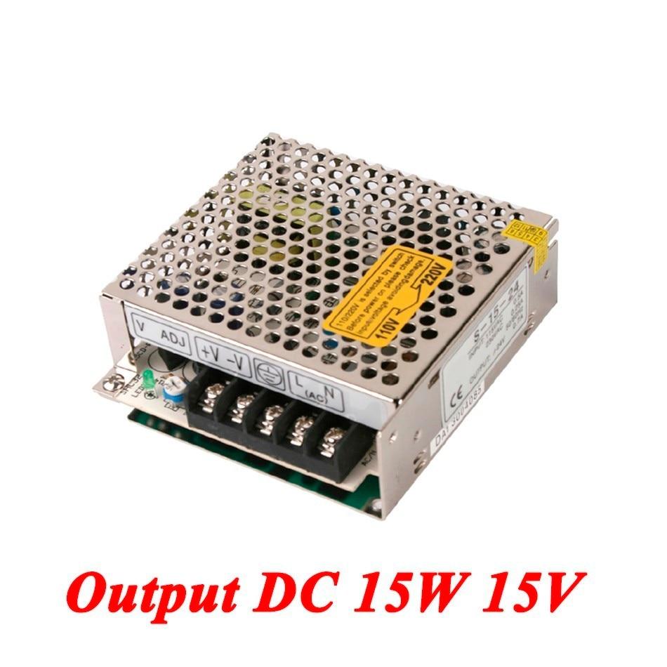 S-15-15 Mini ac-dc power supply 15W 15V 1A Single Output for Led Driver,smps power supply 110V/220V to 15V single output uninterruptible adjustable 24v 150w switching power supply unit 110v 240vac to dc smps for led strip light cnc