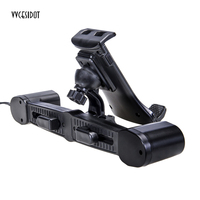 Car Phone Holder With Dual USB 12V Car Charger For Mobile Phones Auto Rear Headrest Telescopic