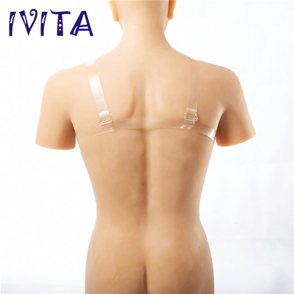 все цены на IVITA 1200g/ Pair Beige Fake Boobs Realistic Silicone Breast Forms For Crossdressers With Straps Transvestite Drag Queen Shemale онлайн