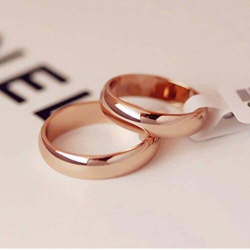 Кольца Kristi tina женские и мужские, простые круглые обручальные кольца цвета розового золота, Подарочная бижутерия для влюбленных