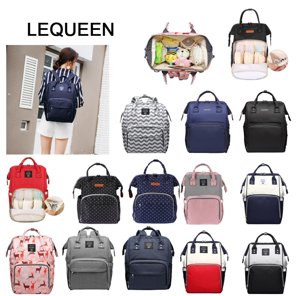 LEQUEEN Fashion Mummy Maternity Nappy Bag Large Capacity Baby Bag Travel Backpack Desinger Nursing Bag For Baby Care Diaper Bag