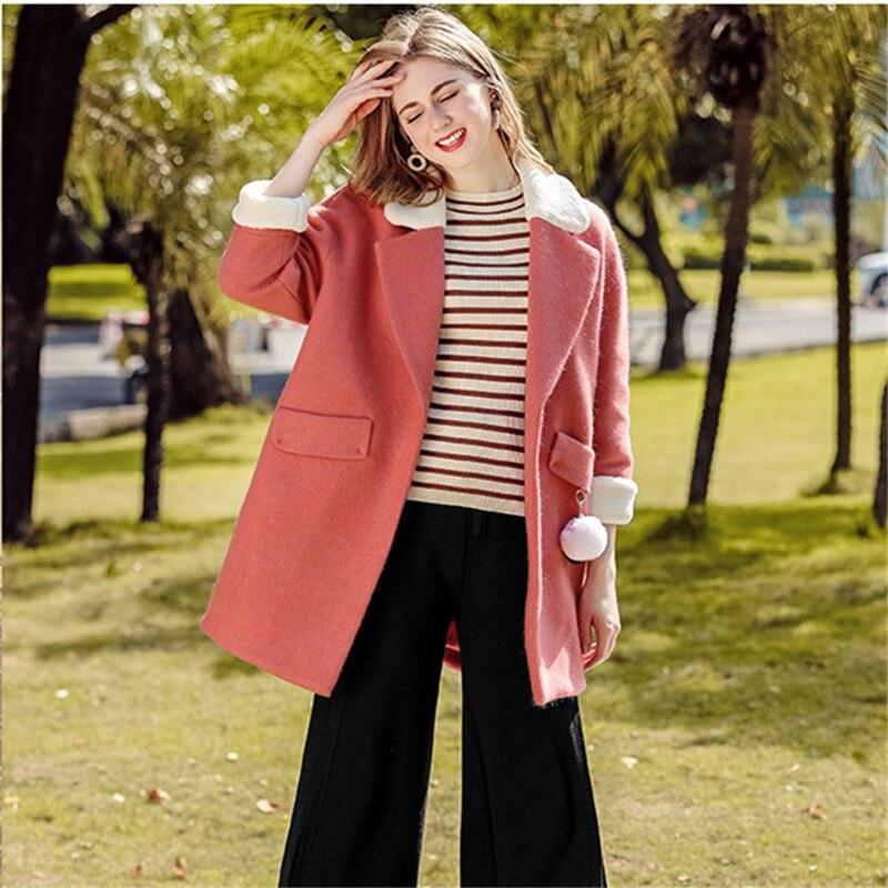 Cappotti Caldo Coreano Elegante Lana Stile Vestiti Inverno Di Cappotto  Outwear 2018 Modo Donna AdqR7wFA 01827690817