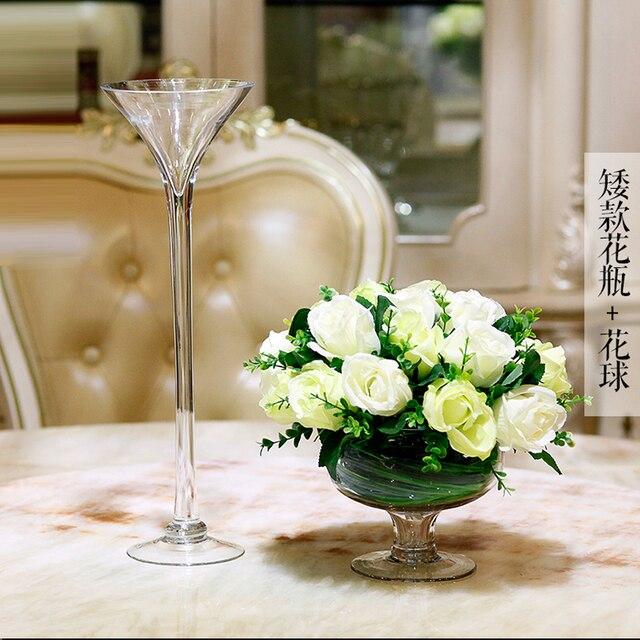 Wedding Road Leader Glass Vase European Transparent Tall Vase