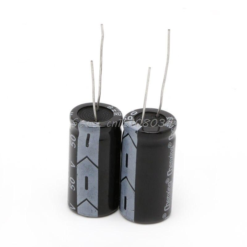 2Pcs 50V Aluminum Electrolytic Capacitor 105 Degree 4700uF Dimension 18*35mm S08 Drop ship