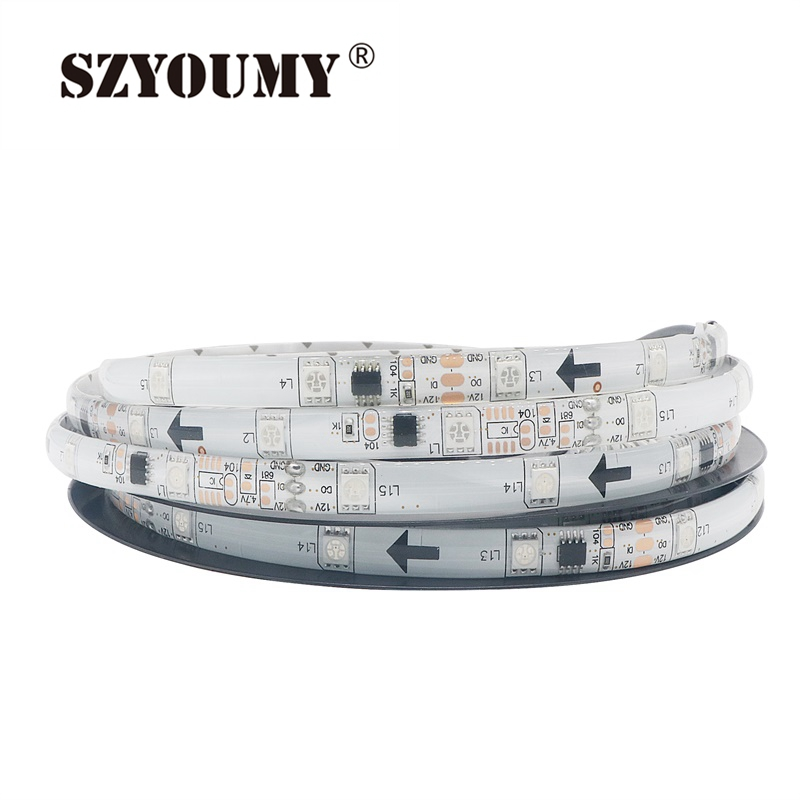 Led Strips Independent Szyoumy Cheap Waterproof Ic 2811 Led Strip Light 5050 Dc12v 150leds 5m/roll Full Color Changing Lights Dc Type 50m Dhl Led Lighting